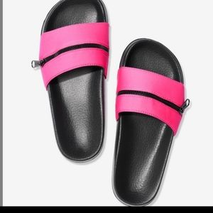 NEW PINK VS Slide with Zipper
